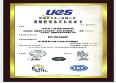 ISO9001 international quality system certification